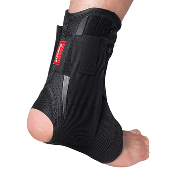 Kuangmi Ankle Support Brace Sports Foot Stabilizer Orthosis Adjustable Straps Pad Breathable Football Sock Protector