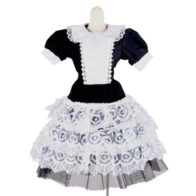 [ Wamami ] 124 # платье / костюм 1/4 MSD бжд Dollfie черный и белый