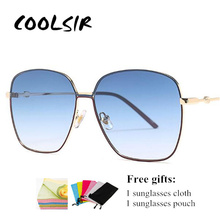 COOLSIR Metal Frame Sunglasses Womens Fashion Luxury Italian Brand Designer Sun Glasses Unisex Gradient 2019 Retro
