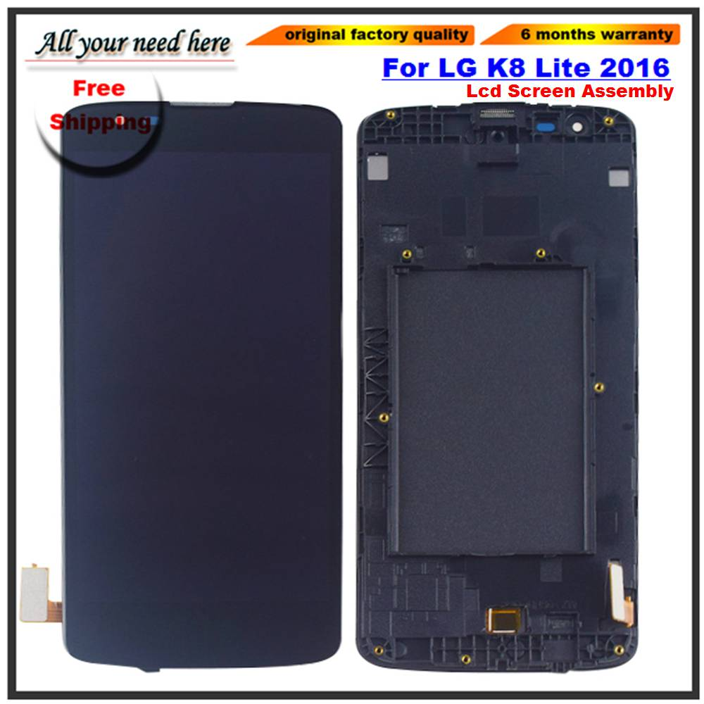 5 LCD Screen For LG K8 2016 LTE K350N K350E K350DS LCD Display 4G Touch Screen Digitizer Assembly with frame5 LCD Screen For LG K8 2016 LTE K350N K350E K350DS LCD Display 4G Touch Screen Digitizer Assembly with frame