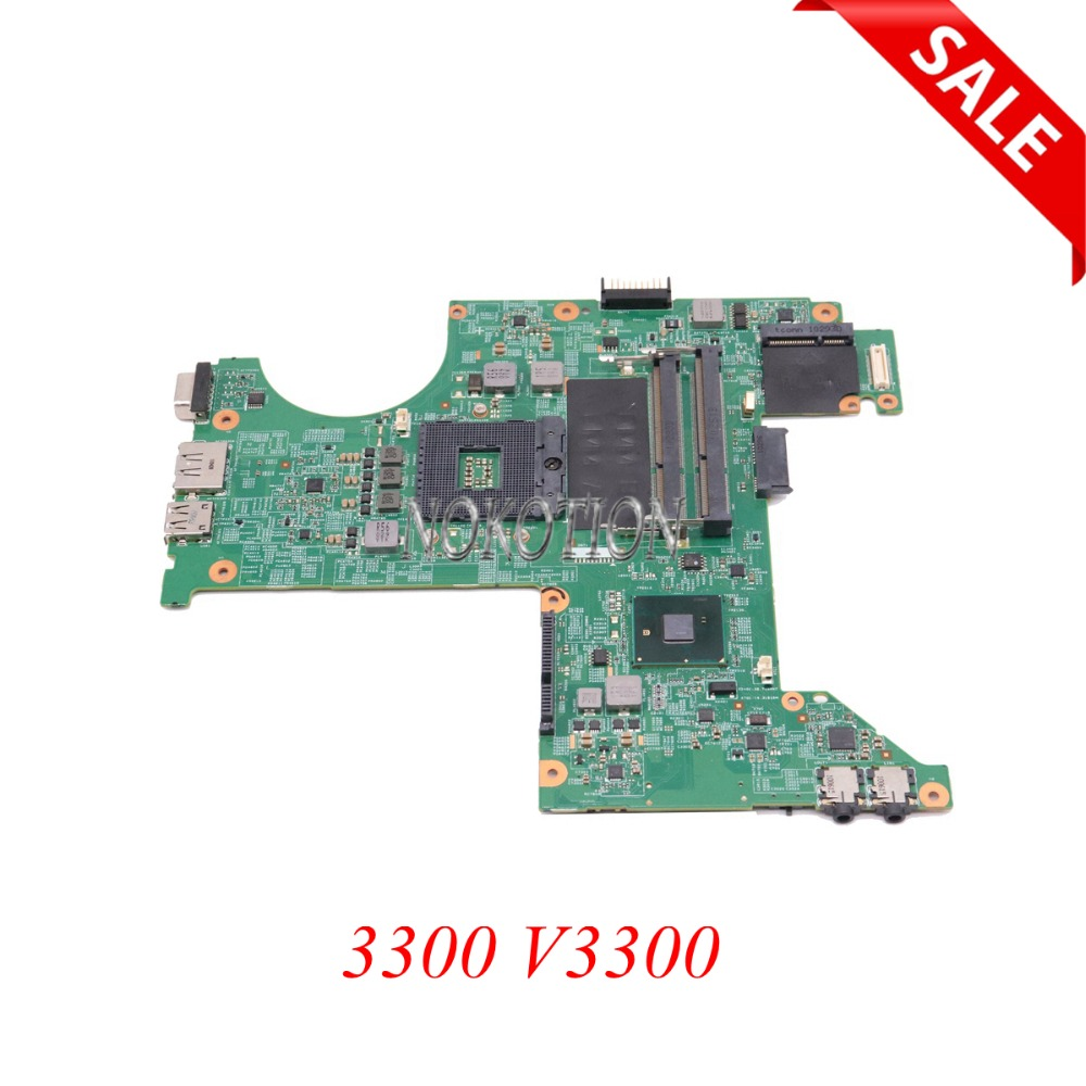 Laptop motherboard For Dell Vostro 3300 V3300 DDR3 PGA989 48.4EX02.0SC CN-063CX9 63CX9 063CX9 Full tested цена 2017