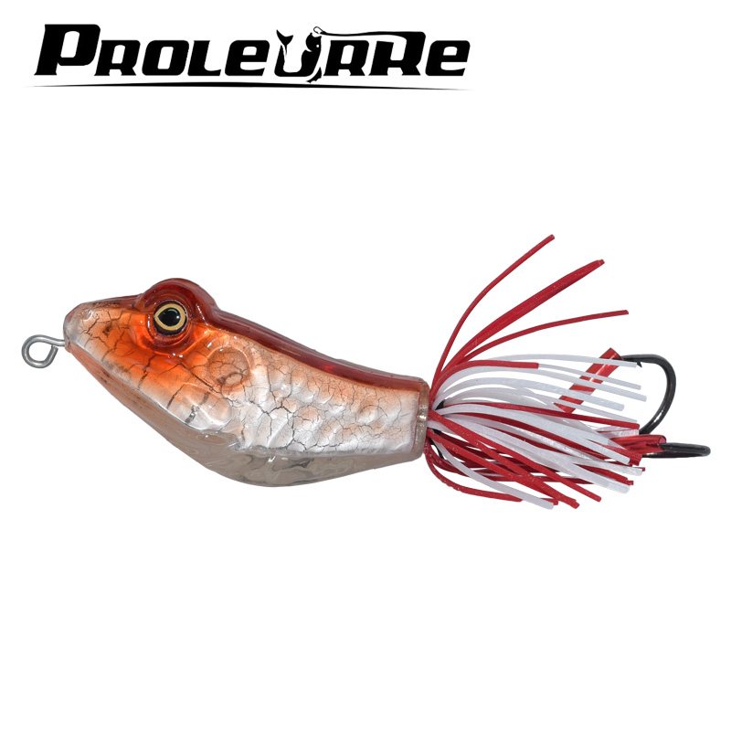 ProLeurre 3D Frog Lure fishing tackle 12.5g Minnow lure Crank Lures Mix fishing bait Frog Fishing lure Catch blackfish dedicated fishing lures 2017 43x set mixed models 43 clolor mix minnow lure crank bait tackle s baits pesca fishing accessories