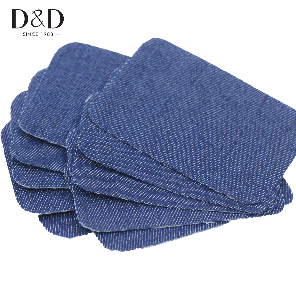 D & D 10 pcs Iron-on Jeans Denim Patch Bordir Appliques DIY Jahit Stiker Aksesoris 3 Warna
