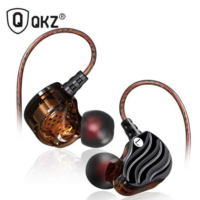 Qkz KD4 Menjalankan Sport Earphone Headset Earbud Double Unit Drive Di Telinga Earphone Bass Subwoofer HIFI DJ Monito + Penyimpanan tas