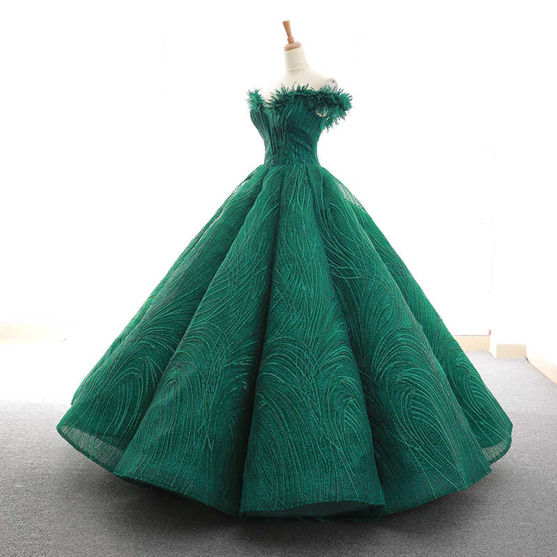 939e3a7584a ... RSM66597 red green and champagne floor length pleat evening dress with feather  sweetheart lace up back ...