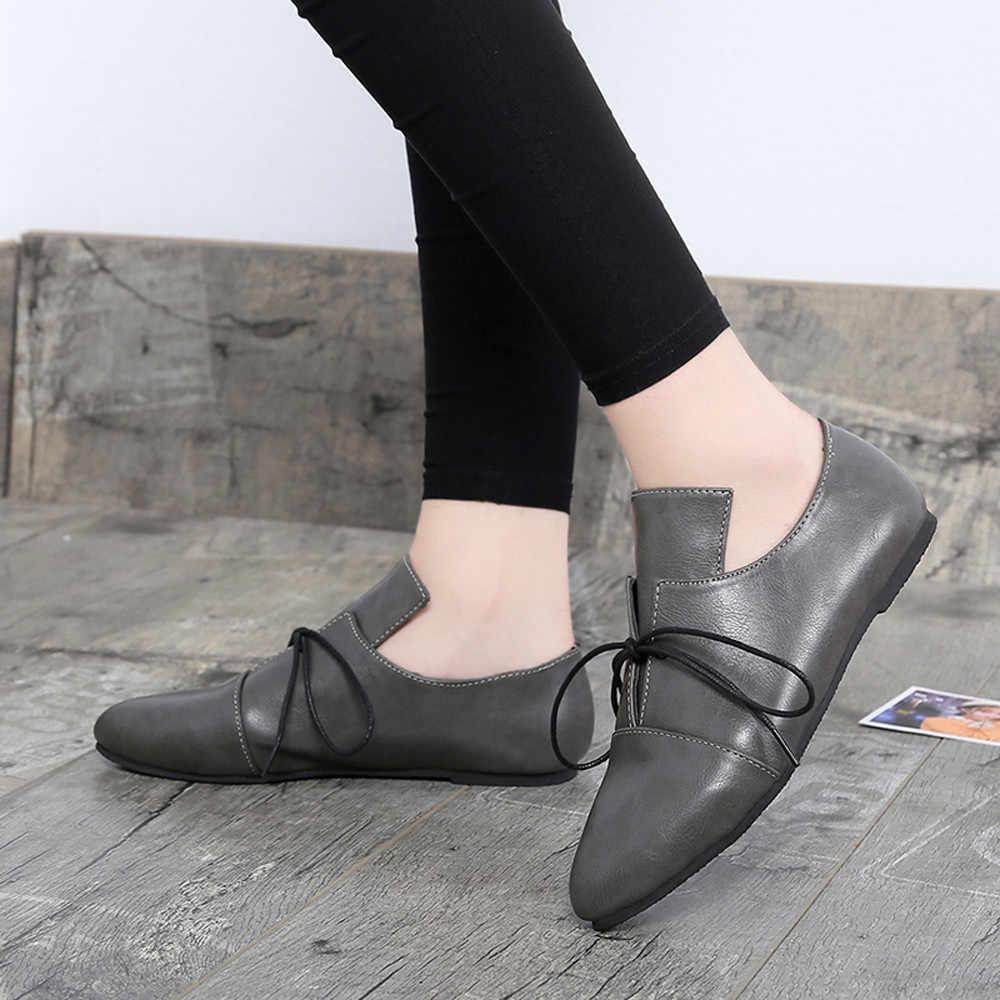 YOUYEDIAN Kadın Ayak Bileği Kısa Casual Bandaj Düz Sivri Seksi Kadın Çizme Dört Mevsim Ayakkabı sapatos mulheres 2018 # a35