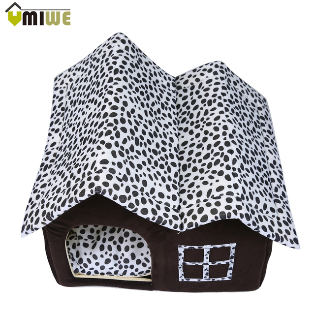 Dog House PP Cotton Folding Dog Bed Warm Soft Pet Sleeping Bag Kennel Large Dog House With Mat Dog Cats Pet Houses Cama Perro