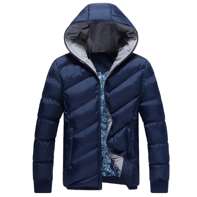 2015 New Fashion Hooded Winter Jacket Men Korean Slim Fit Warm Thick Down Coat Men's Clothing Parka Man Quilted Puffer Jackets