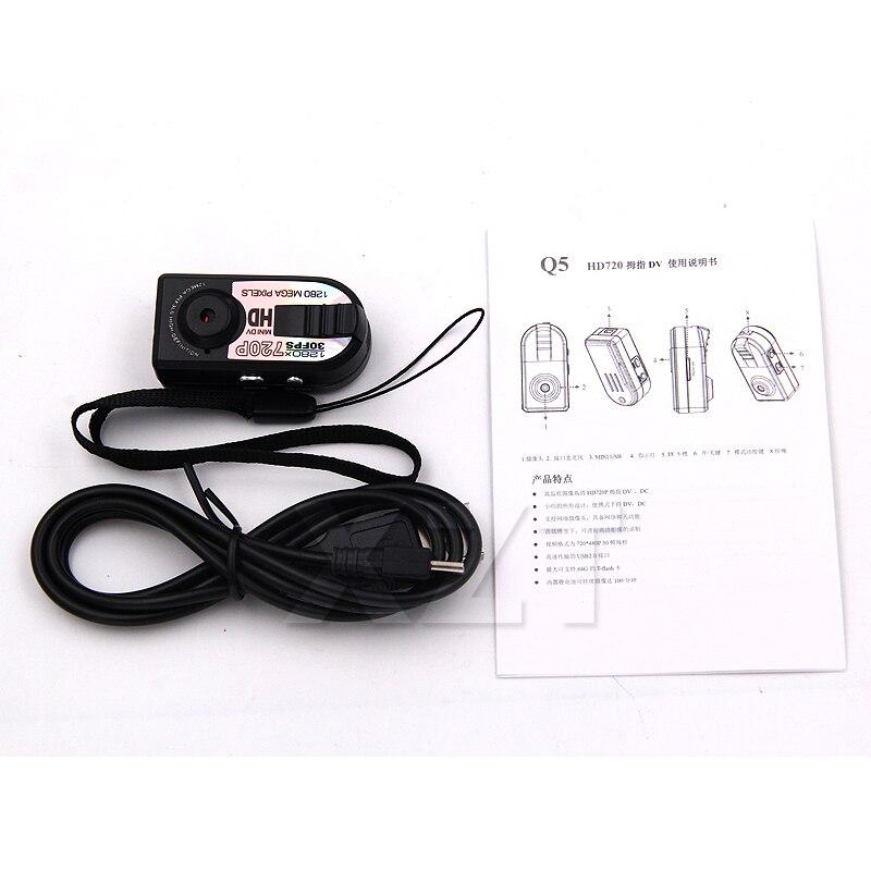 1pcs Mini Q5 Camera HD Motion Detection DV DVR Very Ultra 720P Small Cam Camcorder Micro Digtal Video Recorder TF Card