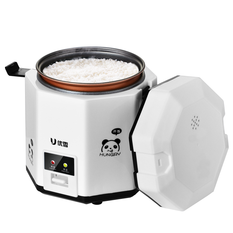 1.2L Mini Rice Cooker Lunch Box 2 Layer Multifunction Household Dorm Room Steamer Cooking Pot Heating Insulation Stew