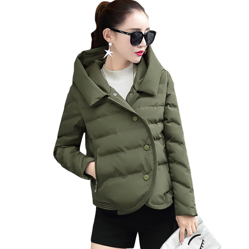 New Fashion Jacket Women Parka Coat Long Sleeve Single Breasted Loose Outwear Irregular Hem Womens Winter Coats Plus Size XH506