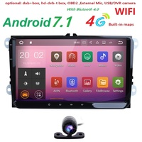 2Din 4G Android 7 1 Car Stereo Radio 9 Inch HD 1024 600 Screen Quad Core