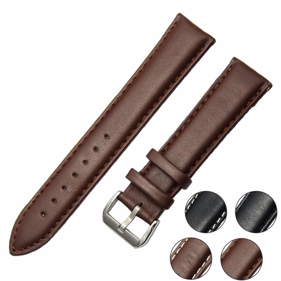 Ремешки для наручных часов черный коричневый кожаный ремешок группа подлинная мягкий пряжка наручные замена подходит мужские часы женские часы ремешок для часов relojes hombre 2016 мм 18 20 22 мм 24 26 мм