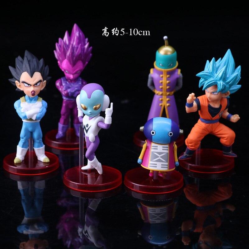 New 6pcs set 8 9cm Dragon Ball Super vol 7 Trunks Vegetto Zamasu Super Saiyan Rose Goku Black Grand Priest PVC Figures Toys in Action Toy Figures from Toys Hobbies