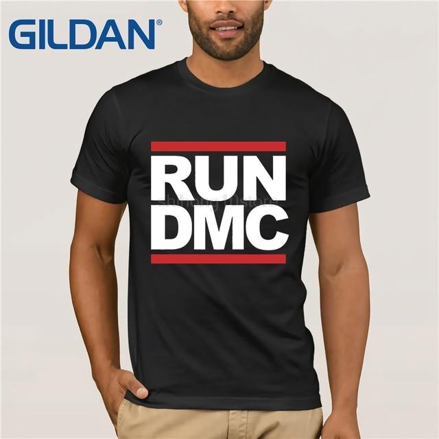 a63dbce45dfb9 GILDAN nueva DMC T camisetas de los hombres de algodón de manga corta Camiseta  Run DMC