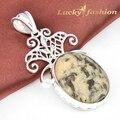 P1118 moda mujeres colgantes de los collares enorme clásico Dalmatine jasper estilo del envío gratis