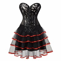 sexy corset skirt tutu halloween costumes corsets and bustiers hollow lace lingerie corset dresses for women party plus size