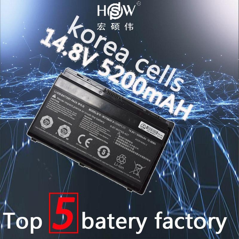 HSW W370bat-8 battery for Clevo W350et W350etq W370et Sager Np6350 Np6370 Schenker Xmg A522 XMG A722 6-87-w370s-4271 origianl clevo 6 87 n350s 4d7 6 87 n350s 4d8 n350bat 6 n350bat 9 laptop battery