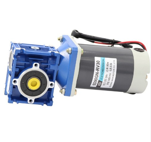 DC RV30 Worm self-locking gear motor 90W speed control torque motor positive and negative electric motor 12V 24V цена