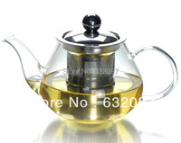 Free Shipping 500ml Glass Teapot with steel strainer and lid, Tea and coffee tools