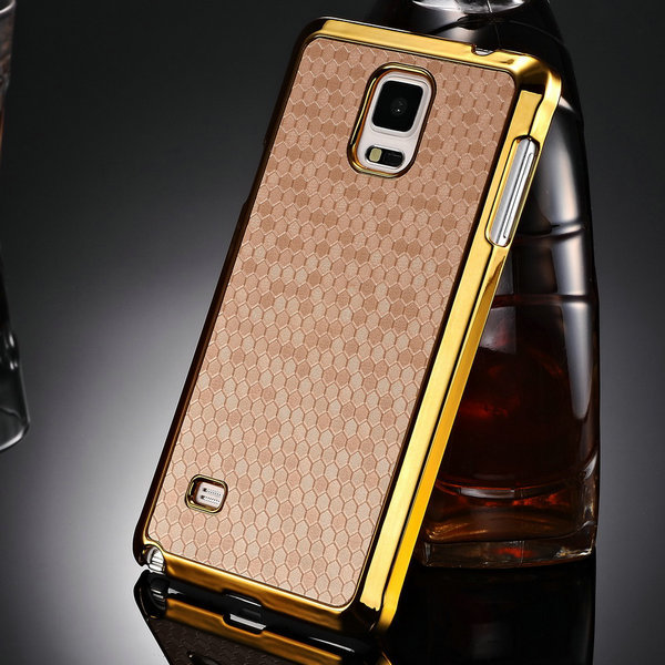 pretty nice 7c227 b7c7c US $5.39 |Hexagon Pattern PU Leather Case for Samsung Galaxy Note 4 N9100  Plastic Hard Back Cover 3 Colors Phone Bag Shell on Aliexpress.com |  Alibaba ...