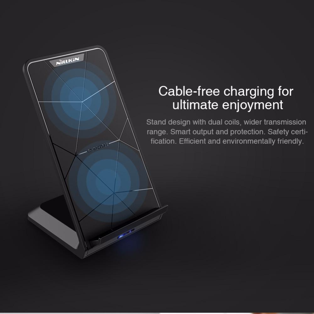 Nillkin Fast Wireless Charger Stand Qi Wireless Charging Pad för - Reservdelar och tillbehör för mobiltelefoner - Foto 3