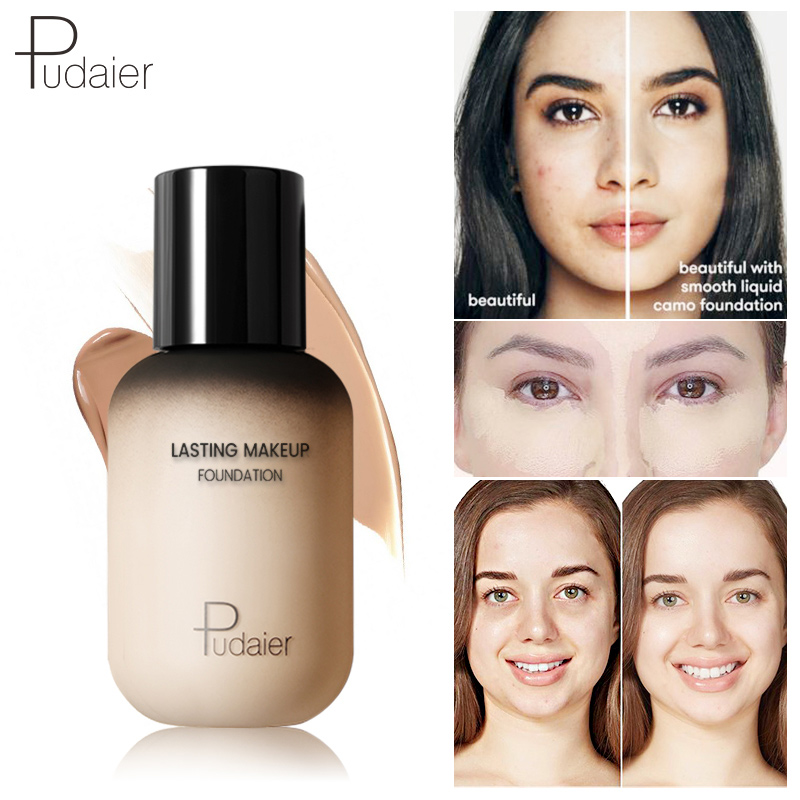 pudaier 40ml professional concealing foundation makeup matte tonal base Liquid cosmetics foundation cream for face full coverage 1