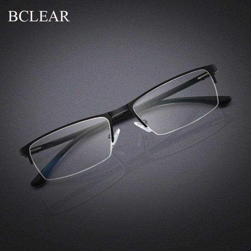 BCLEAR 2019 New Arrival Half Rim Metal Alloy Eyeglasses Frame For Men Eyewear Optical Prescription Spectacles For Male Glasses