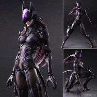 Catwoman Action Figure Playarts Kai Collection Model Anime Toy Movie Bat Man Play Arts Kai Catwoman 270mm Free shipping KB0338