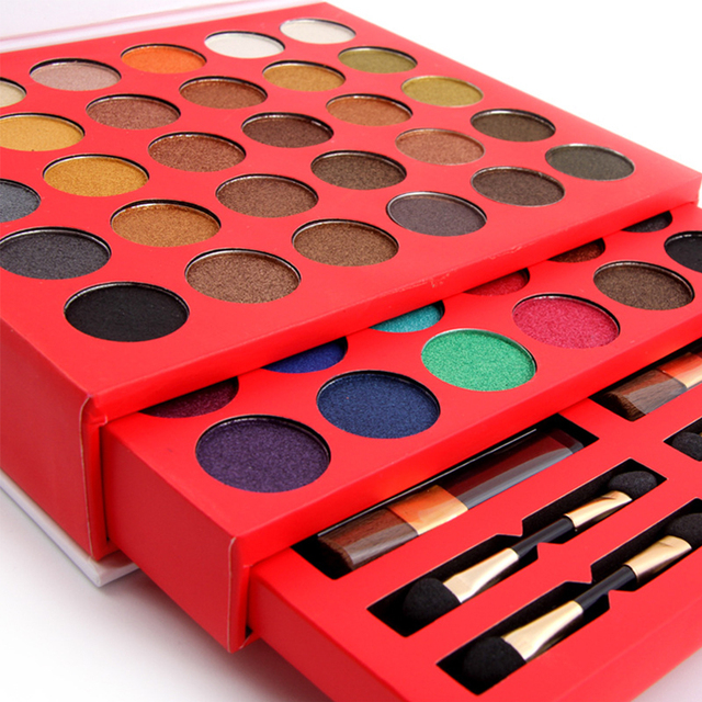 2016 High Quality Pretty 60 Colors Eyeshadow South America Colors Shimmer Matte Palette Full Combination 3 Blushers Makeup Kit