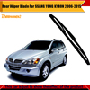 Black Car Soft Rubber Windshield Rear Windscreen Wiper Blade For SSANG YONG KYRON 2006 2015