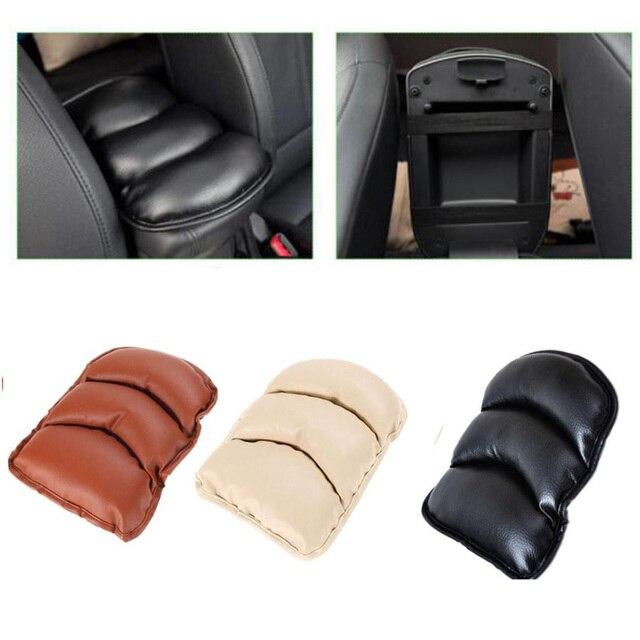 Dewtreetali de coche de cuero Central reposabrazos caja cubierta de cojín, cojín de brazo resto asiento caja de relleno de protección suave