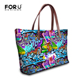 Brand Graffiti Design Handbag for Women High Quality Causal Tote Bag Spanish Shouler Bag Crossbody Casual Large Bag bolsos mujer