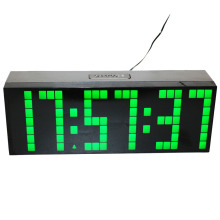 Led digital alarm clock large countdown timer electric clock with temperature calendar display snooze bedside watch green