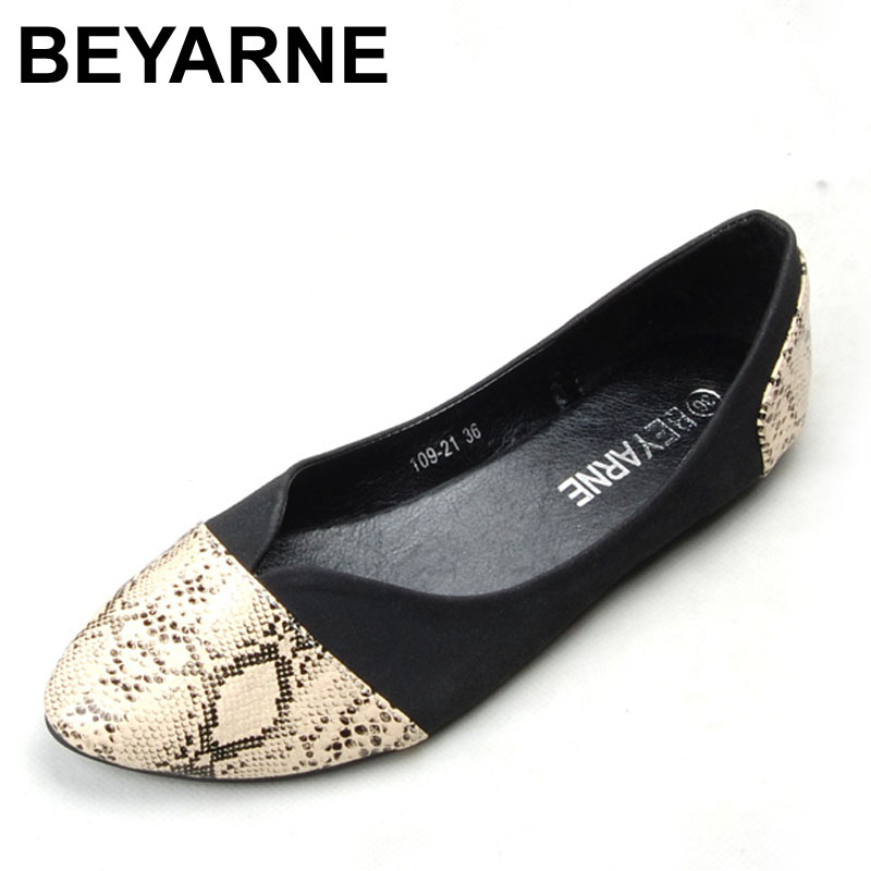 BEYARNE Pointed Toe Flats Sapatilha Ballerina Flats Ballet Shoes Women Sapato Feminino size 35-41 odetina 2017 new designer lace up ballerina flats fashion women spring pointed toe shoes ladies cross straps soft flats non slip