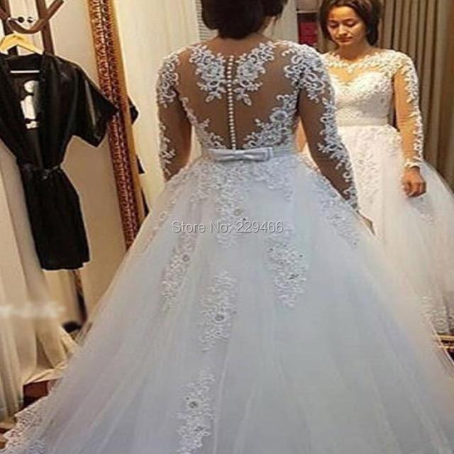 wuzhiyi elegant Vestido De Noiva Cap Sleeve wedding dress Vintage Lace robe  de mariee Pearls Bridal Gown For mariage trouwjurk 1116fc4f0ae1