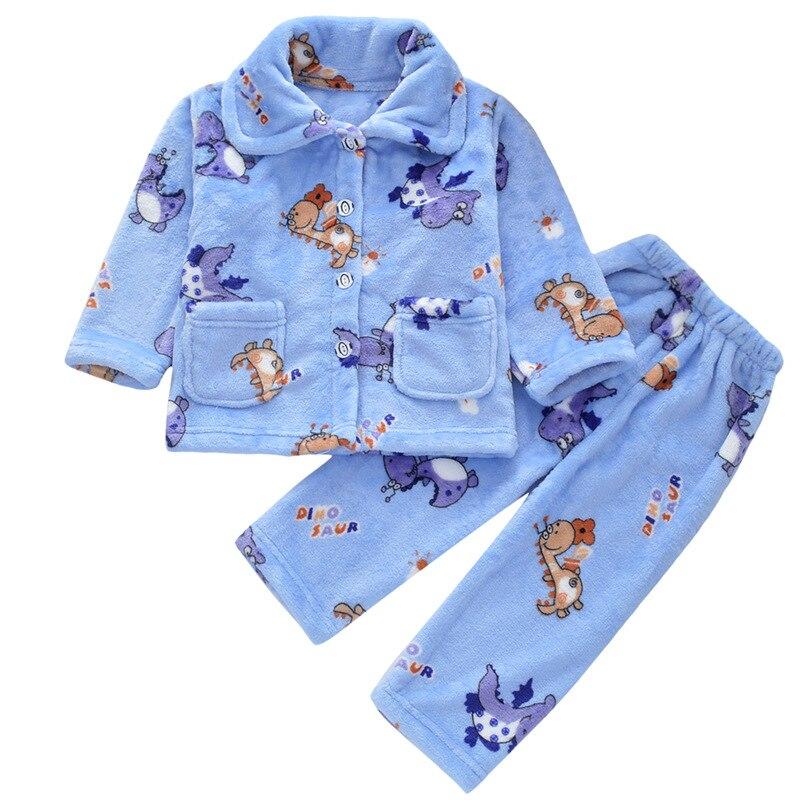 5ff3fa767 Pijamas de invierno abrigados para niños Pijama de franela conjunto de  Pijamas de dibujos animados para niños
