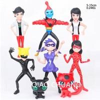 NEW 8Pcs Set Miraculous Ladybug Adrien Noir Agreste Super Cat Hand PVC Action Figure Collectible Model