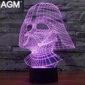 Star Wars 3D lámpara de Mesa Táctil de 7 Que Cambia de Color de Luz 3D Negro knight 3d led novelty 3d luces de noche para niños regalos de acción de juguete