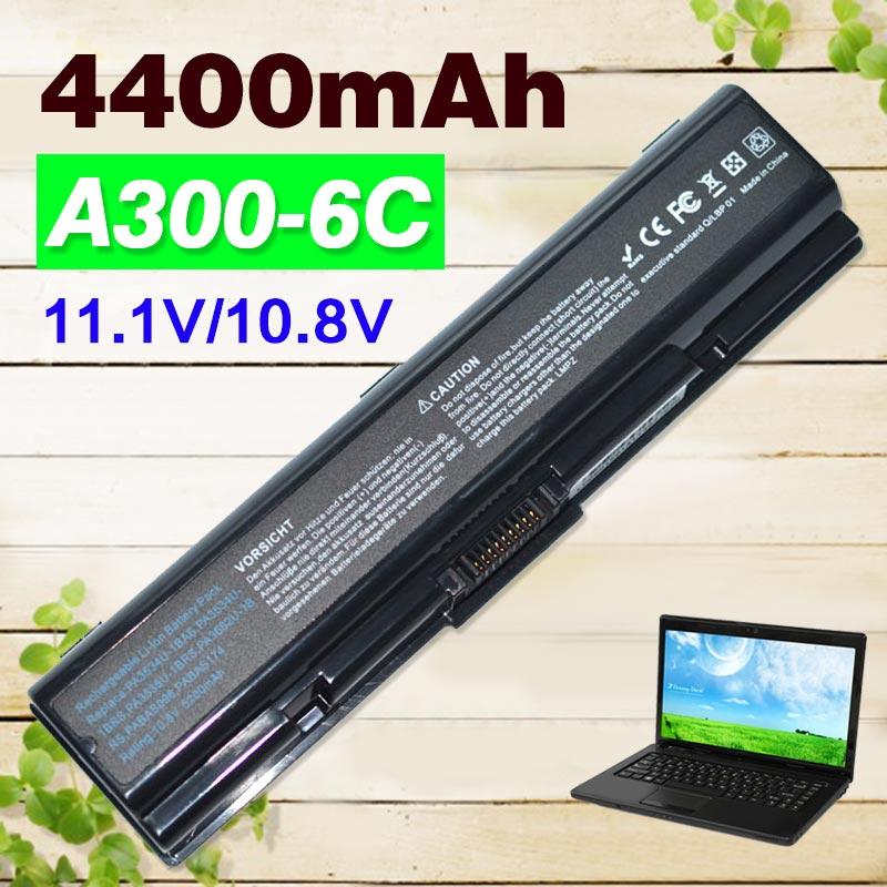 4400MAH PA3534U 1BAS laptop battery For Toshiba pa3534 pa3534u PA3534U 1BRS FOR Satellite L200 L300 A300
