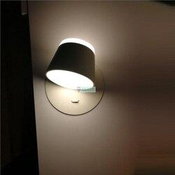 Pokój do nauki 8 W/16 W Led kinkiet lampa z przełącznikiem nowoczesne led lampka do czytania sypialnia czarny & biały Black & white światła mistrz pokoju doprowadziły lampka nocna|wall lamp bedroom|led reading wall lampstudy room -