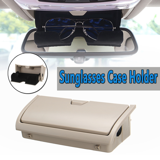 1Pc Beige Sun Glasses Box Organizer Storage Cases Holder New For BMW X5 X6 F15 F16 2014-2017 Car Storage Pockets Car-styling