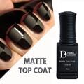 BD 10ml Matt Matte Top Coat Nail Gel Polish Nail Art Tips Dull Finish Top Coat Gel Long Lasting Gel Lacquer Matt Top Gel