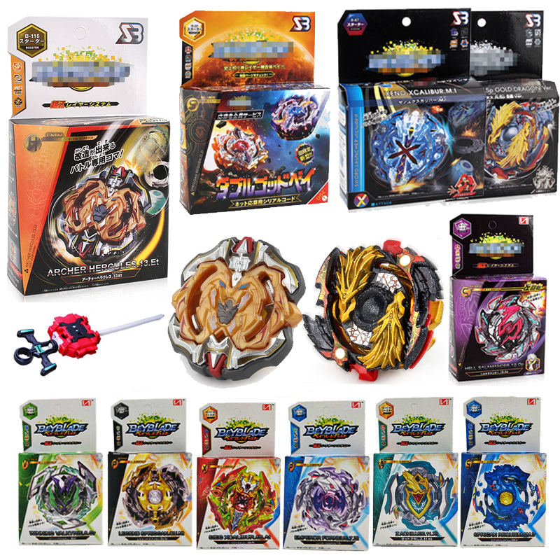 купить New Beyblade BURST God B115 B00 B113 With Launcher And Original Box Gift Toys Spinning Top Bey Blade Blades Toy For Children F5 в интернет-магазине