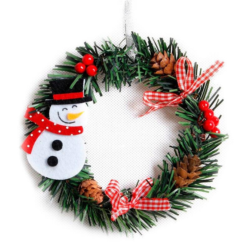 Christmas Wreaths.Us 0 95 23 Off Small Christmas Wreath Cartoon With Pines Merry Christmas Wreaths Mini Xmas New Year Garland Nice Gift Xmas Wreath Dia 15cm In