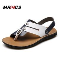 MRCCS Hit Color Design Flip Flop Sandálias Para Homens, 2017 New Design Praia Fresca de Verão Sapatos, Luz Suave peso Da Moda Sandália Ocasional