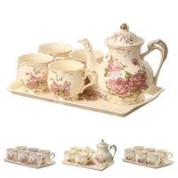 YOLIFE слоновая кость керамические кружки для чая набор с лотком для подарка