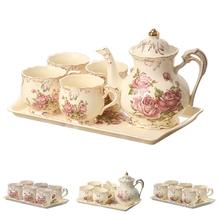 YOLIFE Ivory porcelanowe kubki na herbatę z tacą na prezent tanie tanio Filiżanka kawy i Spodek Zestawy CN (pochodzenie) Podszkliwna ceramic Porcelany 250ml 800ml Single Layer