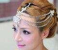 Crystal Clear dangle testa headband da tiara nupcial prom pageant headpieces casamento teardrop jóias acessórios de cabelo 1 pc