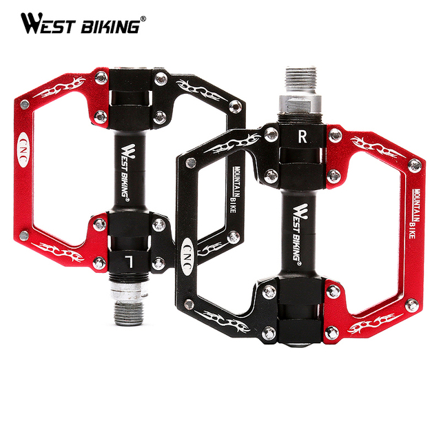 WEST BIKING Bicycle Pedal Aluminum Alloy Mountain Bike Pedal Professional Cycling Pedals Bike Bicicletas Bicycle Pedals